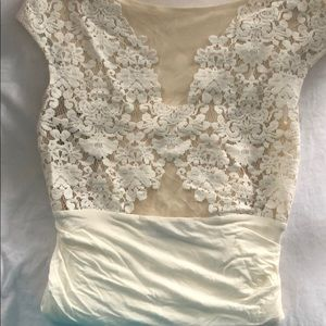 Bailey 44 white  lace top